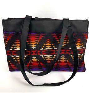 Pendleton Wool Aztec Tribal Print Tote Travel Bag